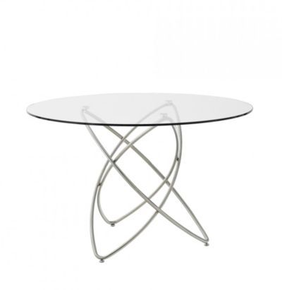 Molekular table ronde verre chrom ma wishlist fly for Table ronde fly