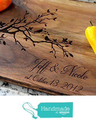 Love Birds Cutting Board with Personalized Name and Date from Country Barn Babe http://www.amazon.com/dp/B015JTWML6/ref=hnd_sw_r_pi_dp_Kffgwb17GSK6W #handmadeatamazon