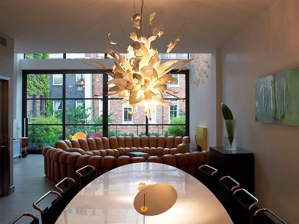 Contemporary Lighting For Dining Room Fascinating Dining Table Lighting Townhouse Renovation In Gramercy Park New Decorating Inspiration
