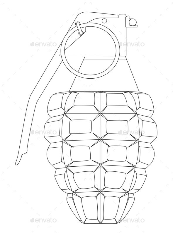 Download Free Hand Grenade Outline Ammunition Antique Army Art