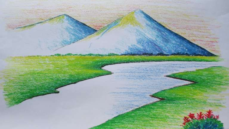 17 Mountain Landscape Drawing Easy Scenery Drawing In 2020 Watercolor Landscape Paintings Landscape Drawing Easy Landscape Drawings