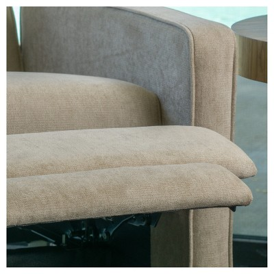 Excellent Dalton Fabric Recliner Club Chair Natural Christopher Customarchery Wood Chair Design Ideas Customarcherynet