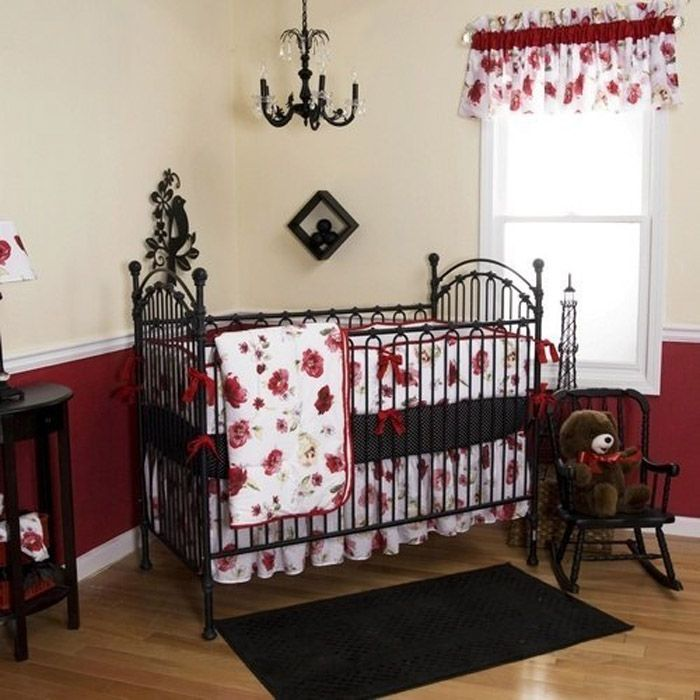 Baby Crib Bedding Pink Cribs Nursery Red