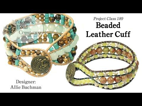 Beaded Leather Cuff Tutorial In 2020