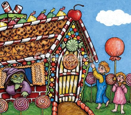 Hansel And Gretel Candy House Hansel Gretel Illustration Stock Illustration Thinkstock Illustration Fairy Tales Candy House