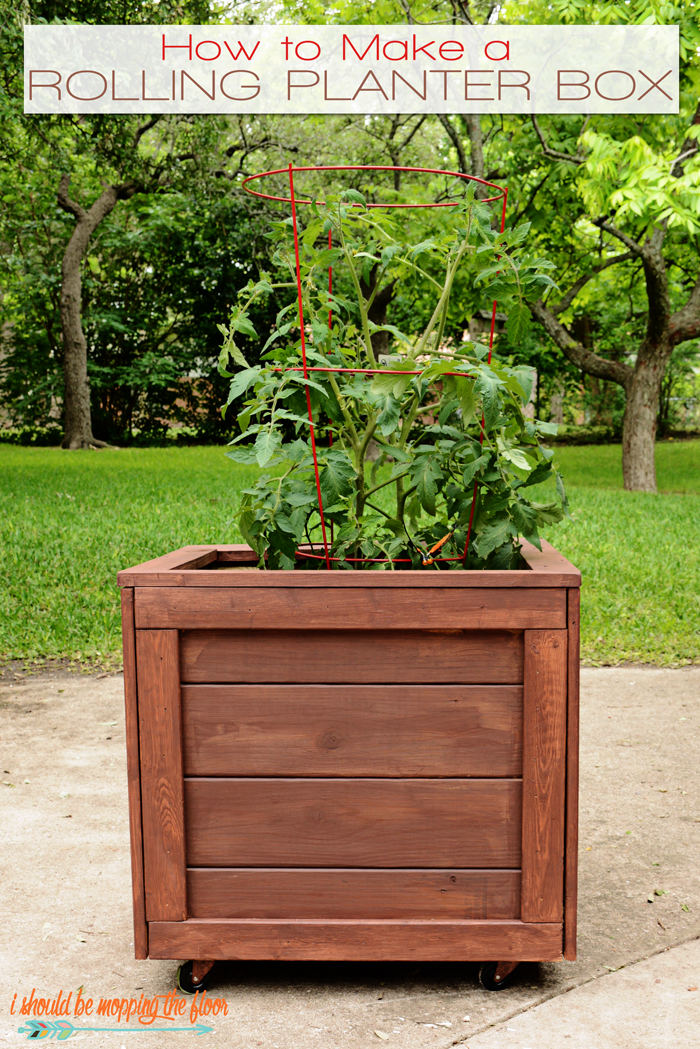 This Diy Planter Box With Wheels Is Perfect For Any Patio 400 x 300