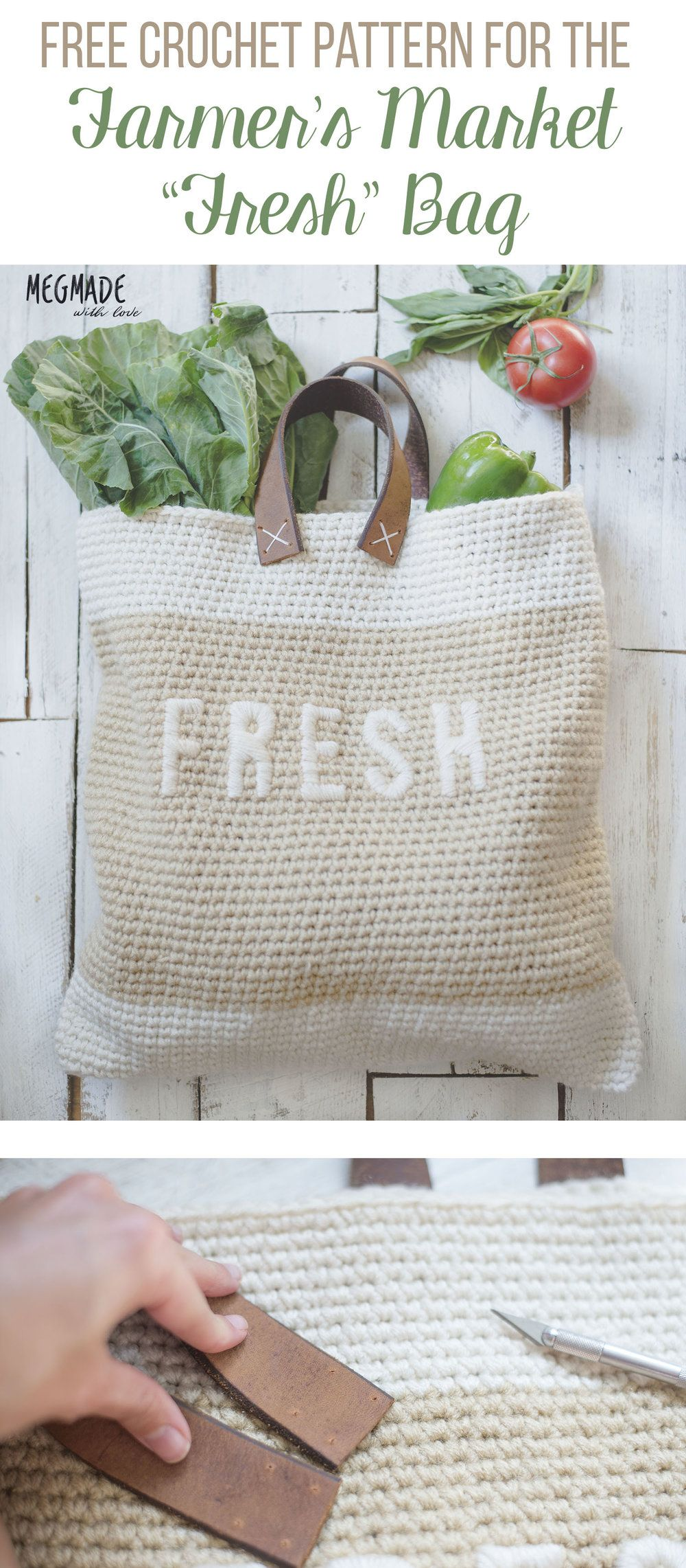 Free Crochet Pattern for the Farmer\'s Market Bag — Megmade with Love ...