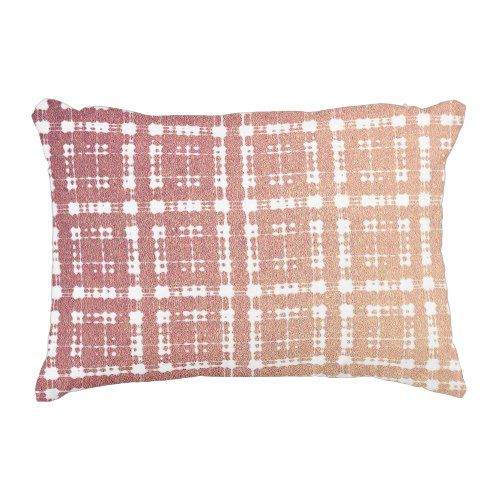 Raspberry Pink Blush Modern Plaid Netted Ombra Decorative Pillow Extraordinary Raspberry Decorative Pillows