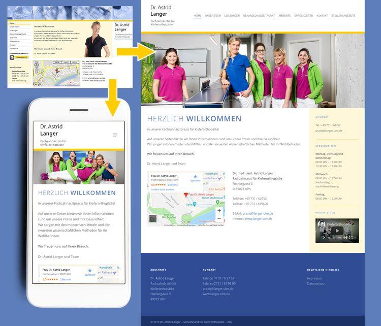 Dr Astrid Langer Kieferorthopadie Ulm Classic Zu Responsive Webdesign Responsive Webdesign Web Design Kieferorthopadie