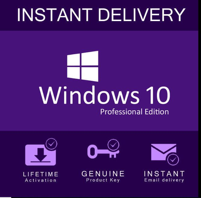Instant Windows 10 Professional Pro 32 64 Bit Genuine Activation Key License Windows 10 Microsoft Windows Windows