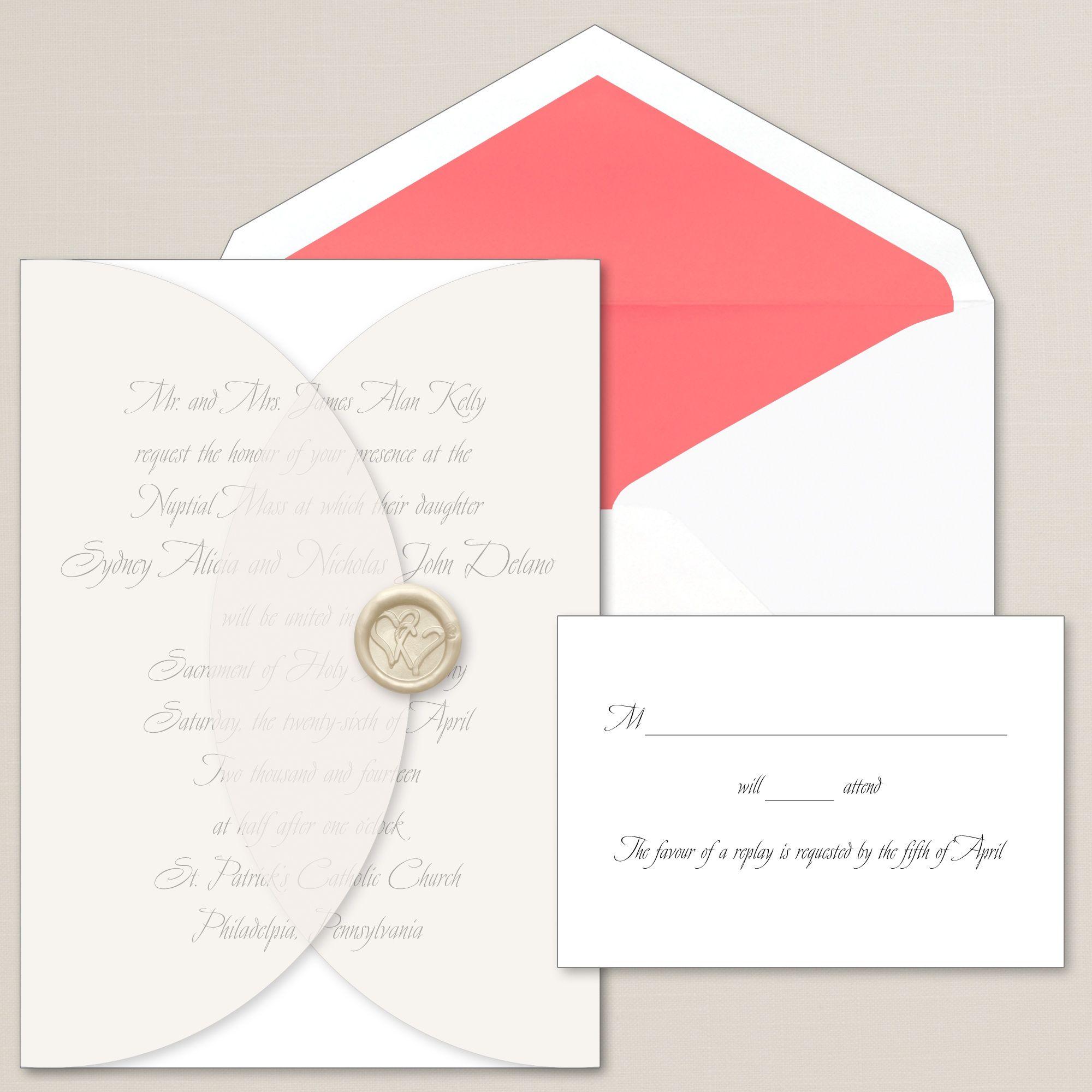 Sealed With Love Wedding Invitation
