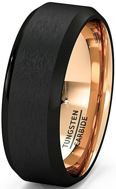 Blackrings Unisex Or Men S Wedding Band Mens Wedding Rings Black Matte Finish Tungsten Ca Mens Wedding Bands Tungsten Black Tungsten Rings Mens Wedding Rings