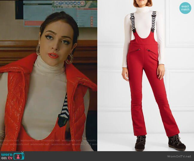 4a38a29ae Fallon s red ski pants on Dynasty. Outfit Details  https   wornontv.