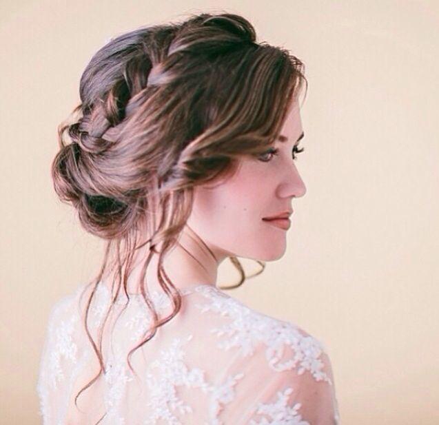 Braided Crown Wedding Hairstyle: Hair Styles, Romantic Wedding Hair