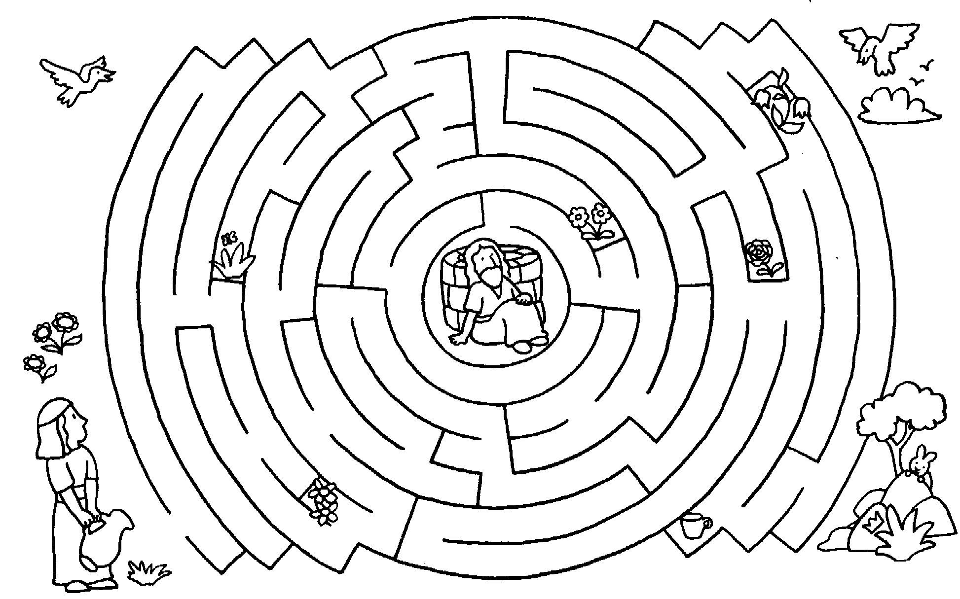 Woman At The Well Maze Sunday School Coloring Pages Bible