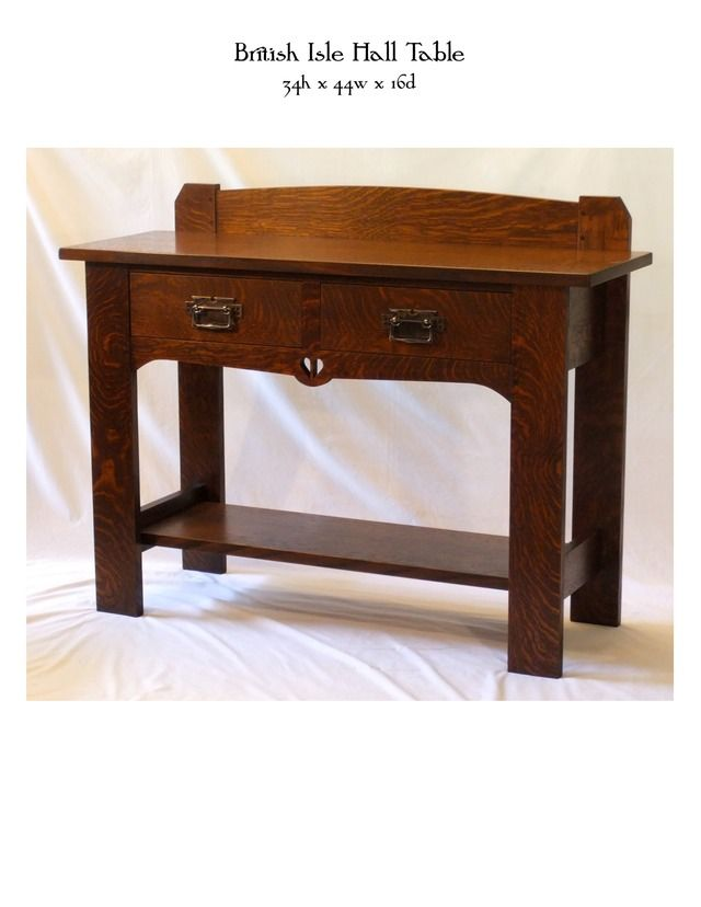 British Isle Hall Table Mike Devlin Furniture Design