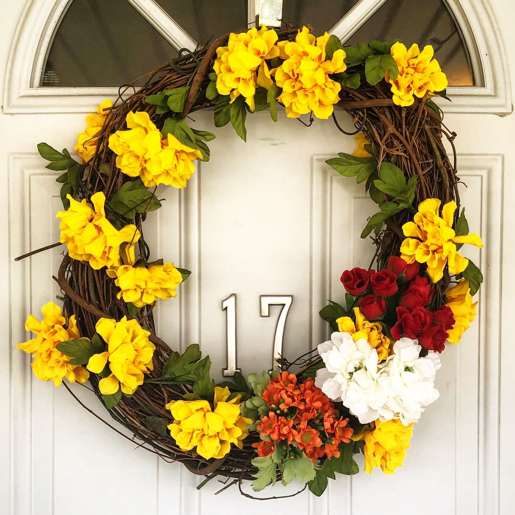 #Diy #Spring #Floral #Wreath For Your Front Door #Simple #