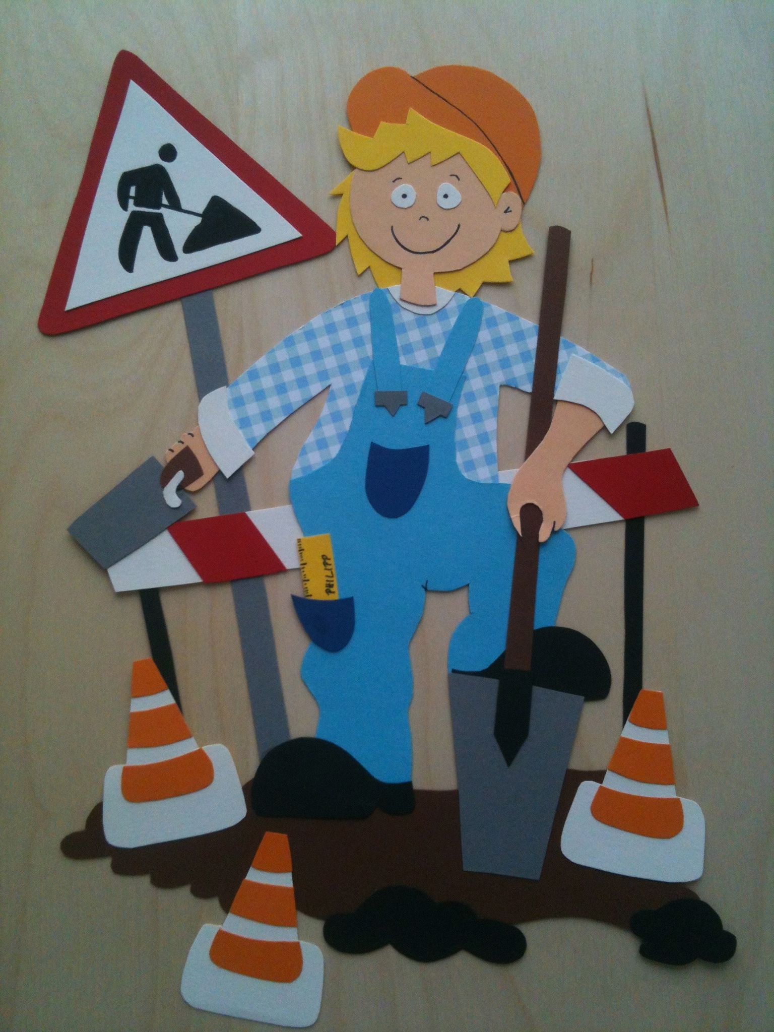 Decoration For Boys Road Works Paper Crafts - Basteln Mit Jungs Ab 7
