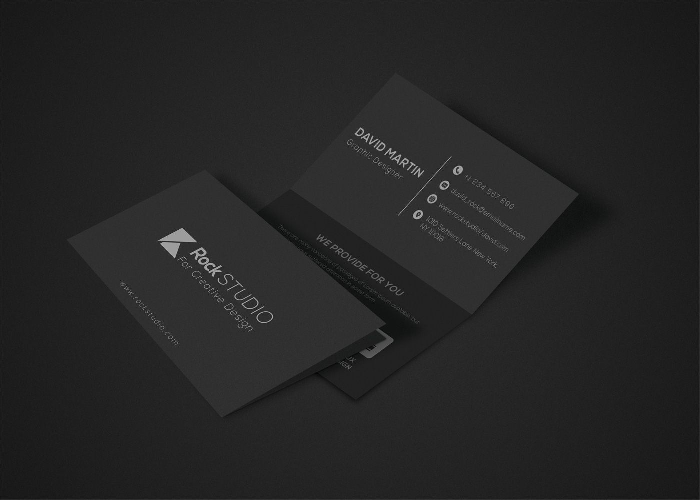 Luxury Folded Business Card Template Businesscard Unique Business Photoshop Design Creati Folded Business Cards Business Card Template Card Design