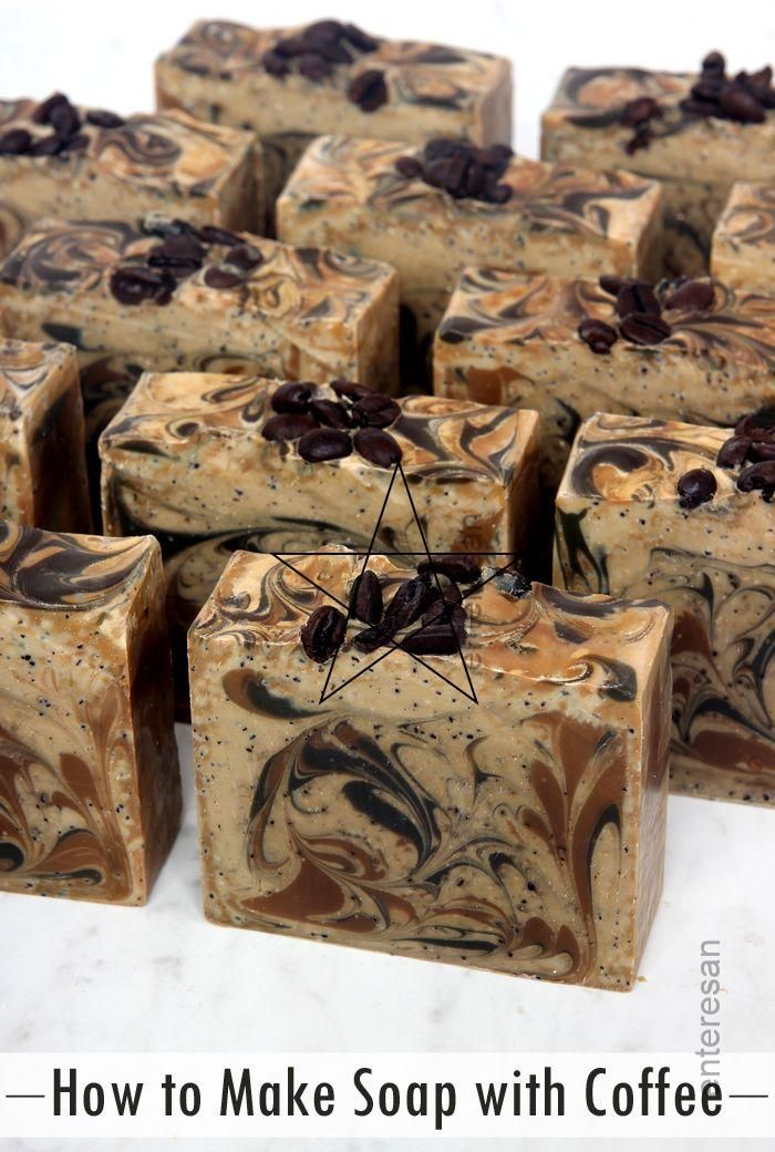 How #to #Make #Coffee #Soap   Coffee soap recipe, Homemade ...