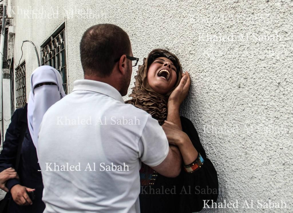 Mother of one of the children killed today. The agony is indescribable.. Gaza