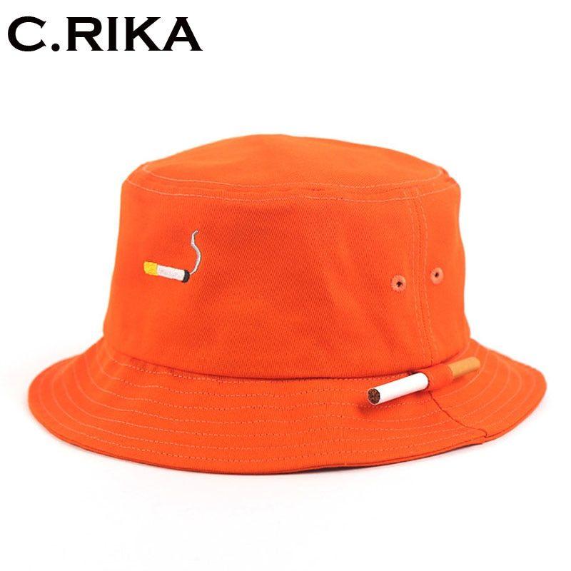 a7c5d6218 2019 的 Orange Panama Bucket Hats 2018 New Fashion Harajuku Brand ...