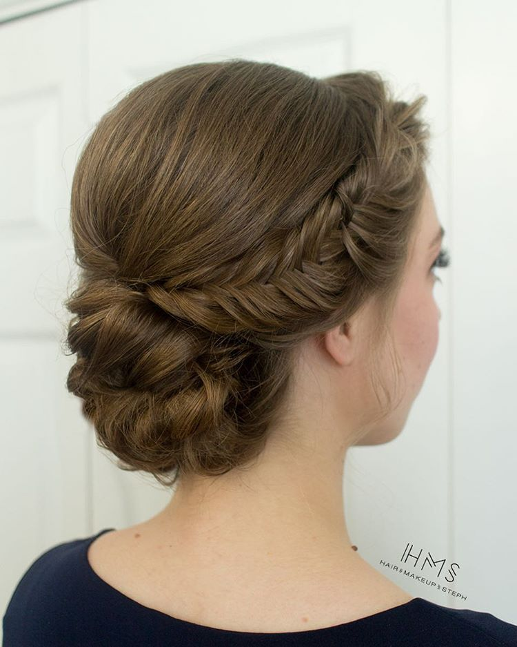 Simple And Clean Bridesmaid Chignon Hairandmakeupbysteph