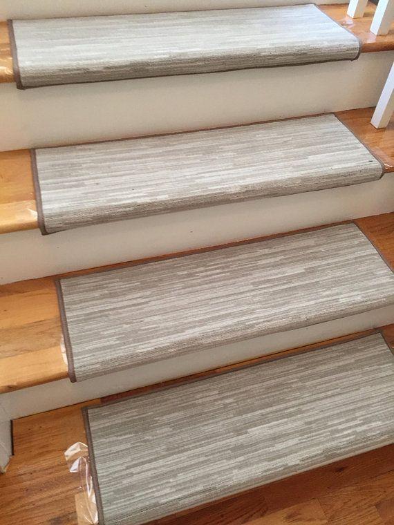 Velvet Chic Shale Stone True Bullnose Padded Carpet Stair