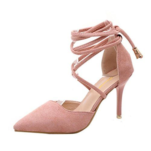 c0c7efae74a56 Hunzed women Fashion Gladiator Shoe Ankle Strap High Heels Shoes ...