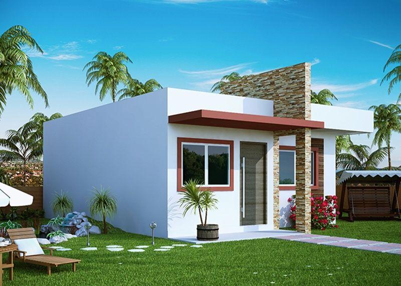 Projeto arquitet nico casa pequena c d 300 r 238 00 - Casas super pequenas ...