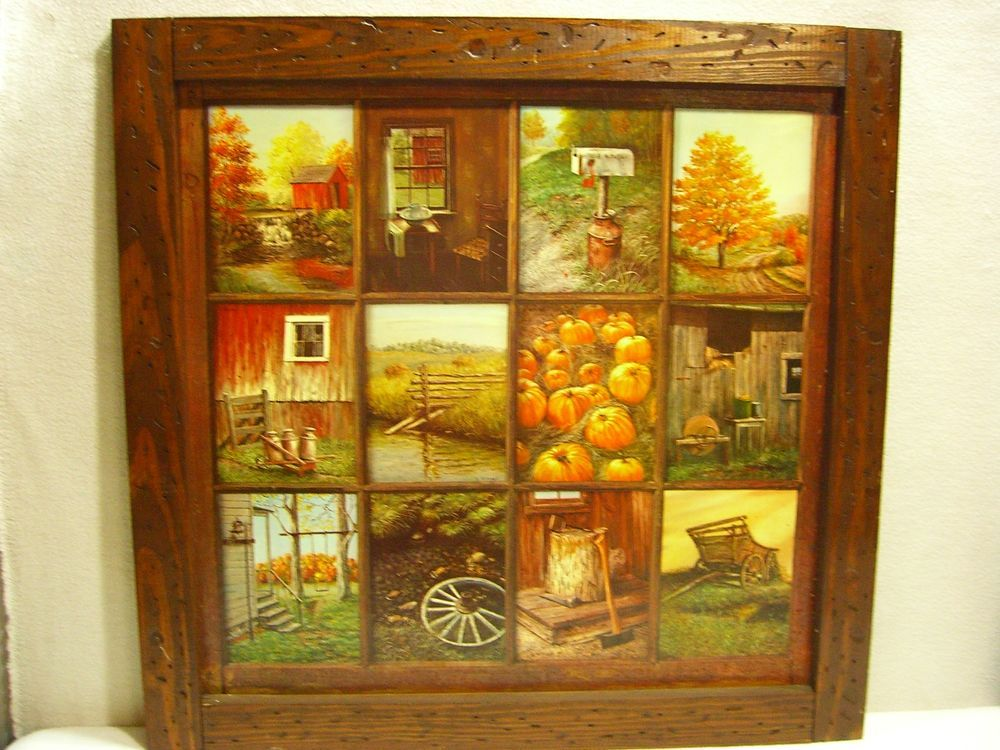 Vintage Homco Home Interior B Mitchell Window Pane Picture