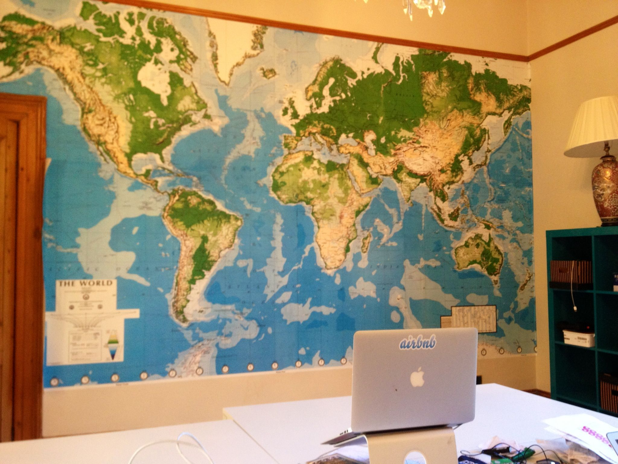 Wwwvinylimpressioncouk World Map Wall Mural For Air Bnb Dublin By