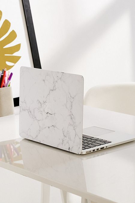 White Marble Vinyl Macbook Pro Skin With Images Marble