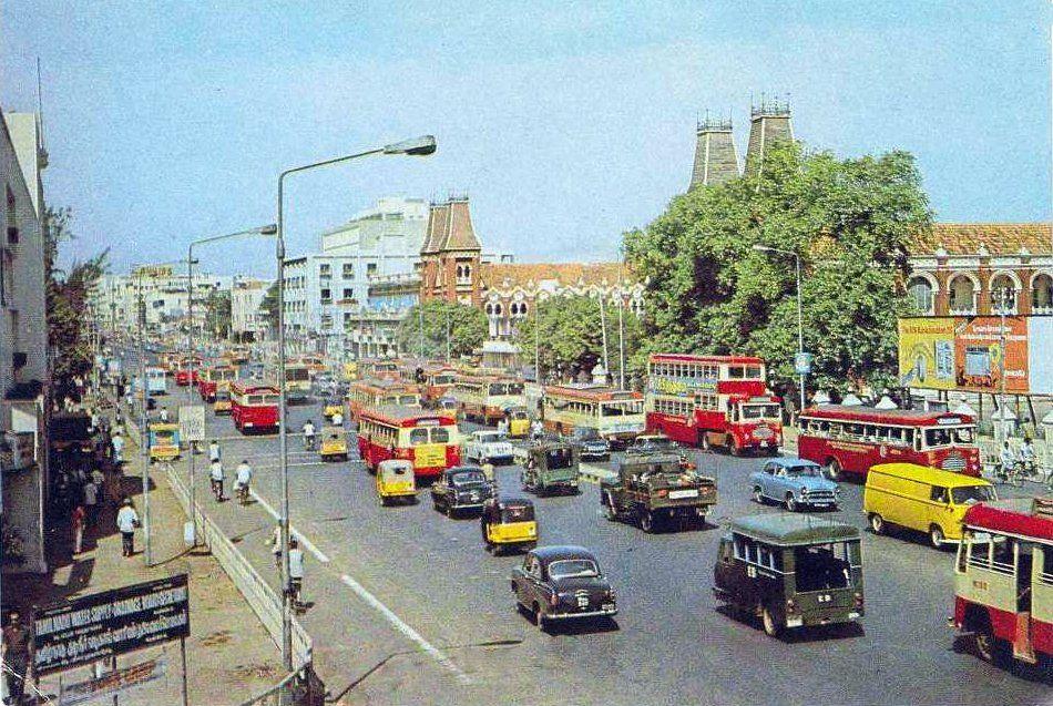 Mount road Chennai 1970 then it was Madras  | TIME | Vintage