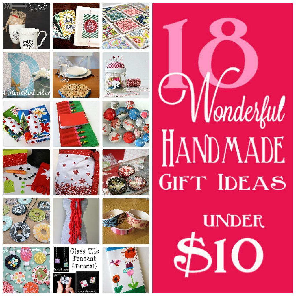 18 Handmade Gifts Under 10 Homemade Christmas Gifts Gifts Under 10 Handmade Gifts