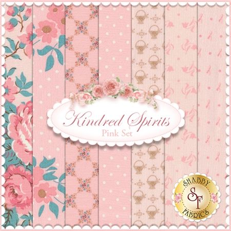 Kindred Spirits 7 FQ Set - Pink Set by Bunny Hill Designs for Moda Fabrics: Kindred Spirits is a collection by Bunny Hill Designs for Moda Fabrics. 100% Cotton. This set contains 7 fat quarters, each measuring approximately 18