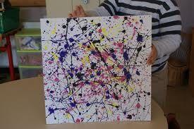 Oeuvres De Jackson Pollock En Maternelle Recherche Google