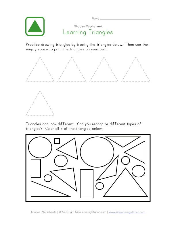 Preschool Triangle Worksheet Triangle Worksheet Home Preschool