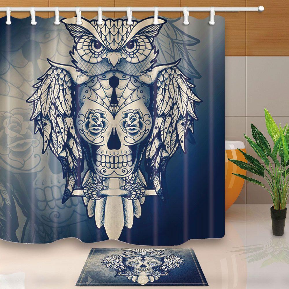 Full Set Of Damask Skull Bath Towels Gift Idea Great For Guys Gothic Home Decor Skull Decor Gothic Bathroom