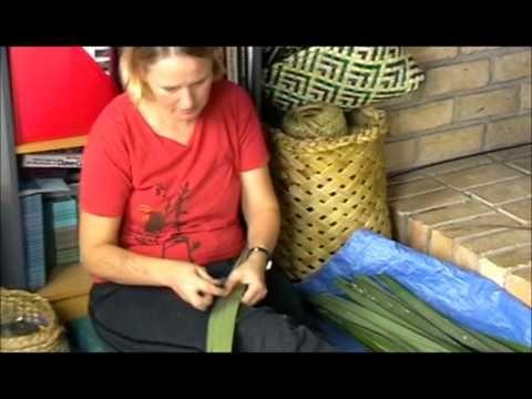 How To Prepare Harakeke Nz Flax Phormium Part 1 Youtube Flax Weaving Paper Weaving Weaving