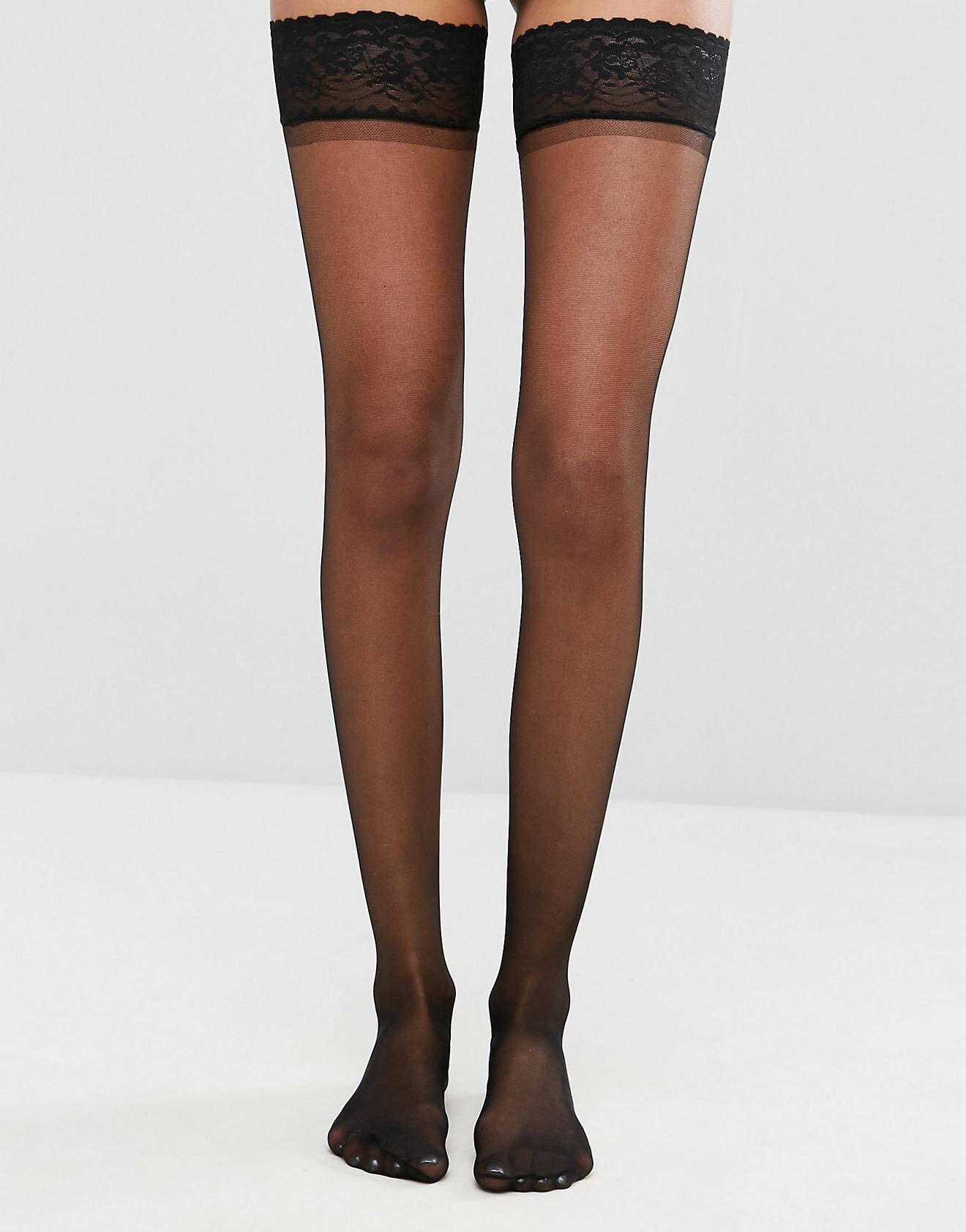 09329ebed DESIGN 15 denier lace top stockings in 2019
