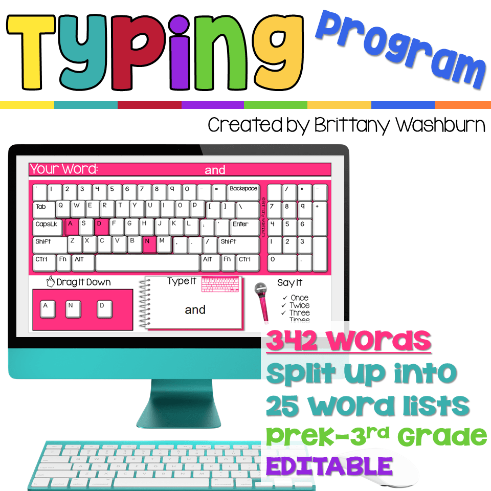 Typing Program with Sight Words Sight words