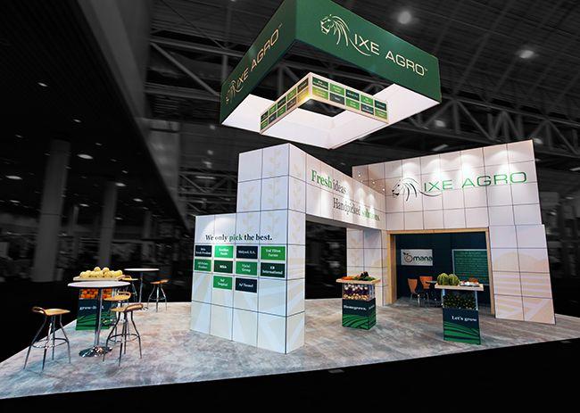 Exhibition Booth Concept : Ixe agro trade show booth design point concepts