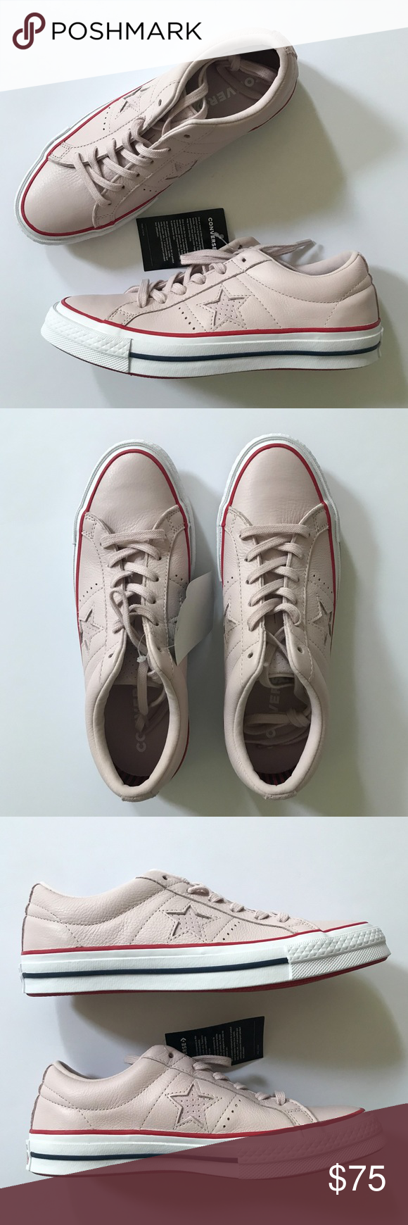 441d4adbe76b Converse One Star Sneaker Barely Rose Pink Smooth leather and a signature  star cutout make this low-top sneaker a sophisticated take on a sporty fave.