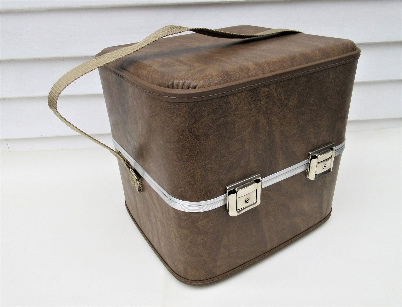 Vintage Suitcase Travel Hat Box Hard Case Shoe Storage Boot Bag