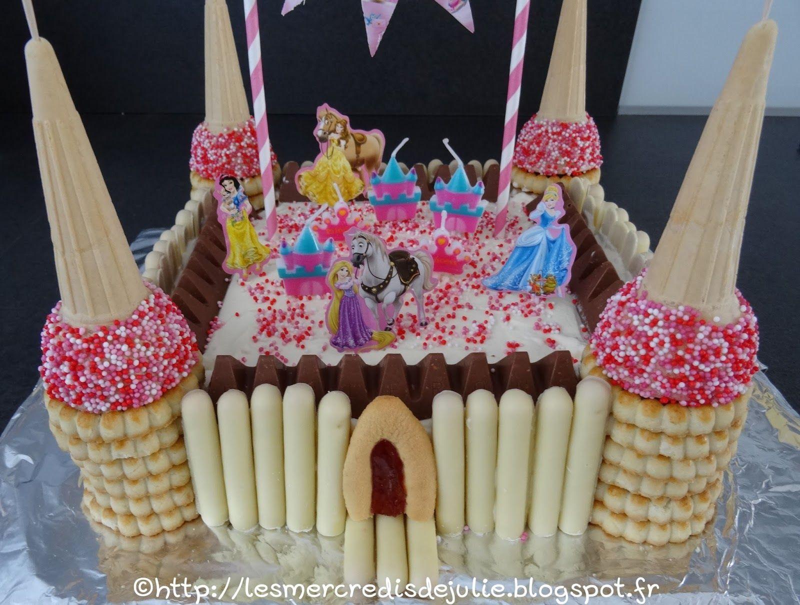 G teau ch teau de princesse cuisine pinterest g teaux ch teau de princesse chateau de - Gateau anniversaire princesse facile ...