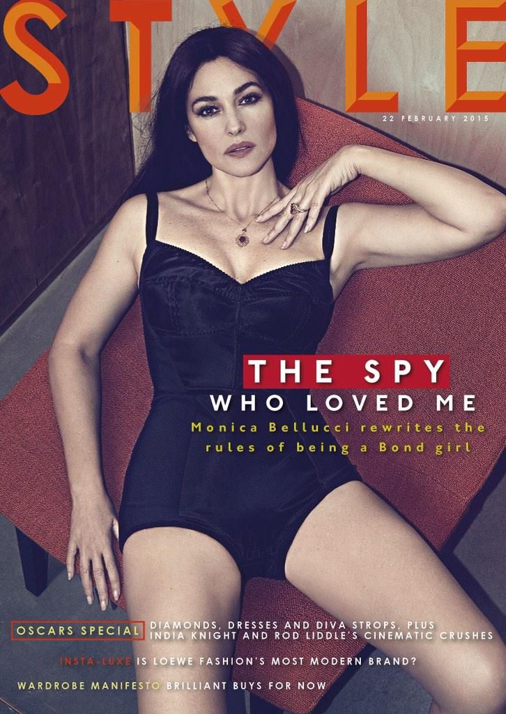 Hot and sexy Italian model Monica Bellucci on the cover of STYLE Magazine