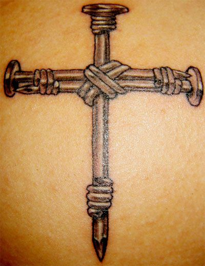 Two Nails Crossed Tattoo Meaning: Religious Tattoos > A Web Site Devoted