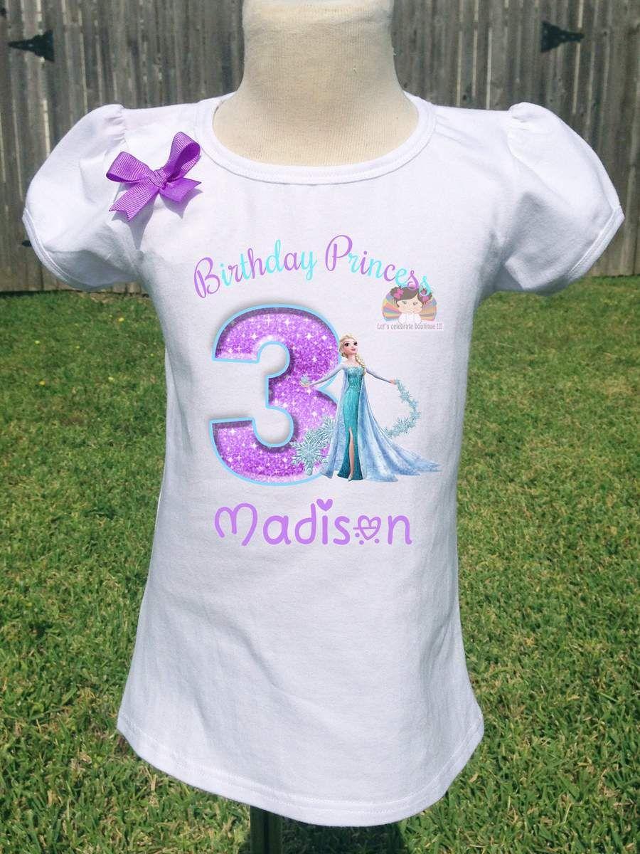 Elsa Birthday Shirt Personalized Frozen Birthday Shirt