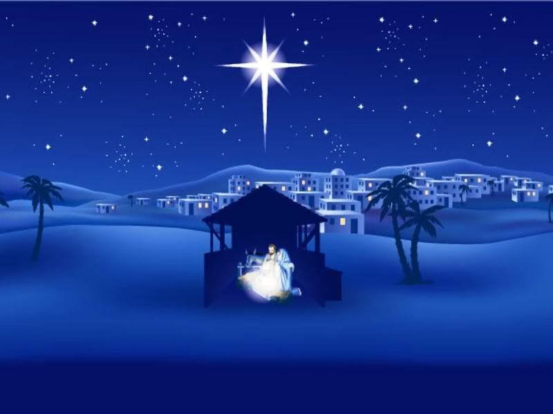 Nativity, Christ, birth, blue, holy, creche, manger, Christmas